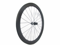 Single rear wheel 38mm 50mm clincher 23mm road wheelsets with DT 350 rear hub and Sapim aero spokes 24H 700C durable wheels
