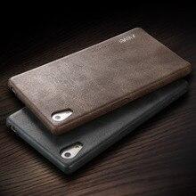 Х уровень Ретро роскошь PU Кожа Case спс Fundas Sony Xperia Премиум case Для Sony Xperia Z5 Z5 Телефон Shell Case Cover
