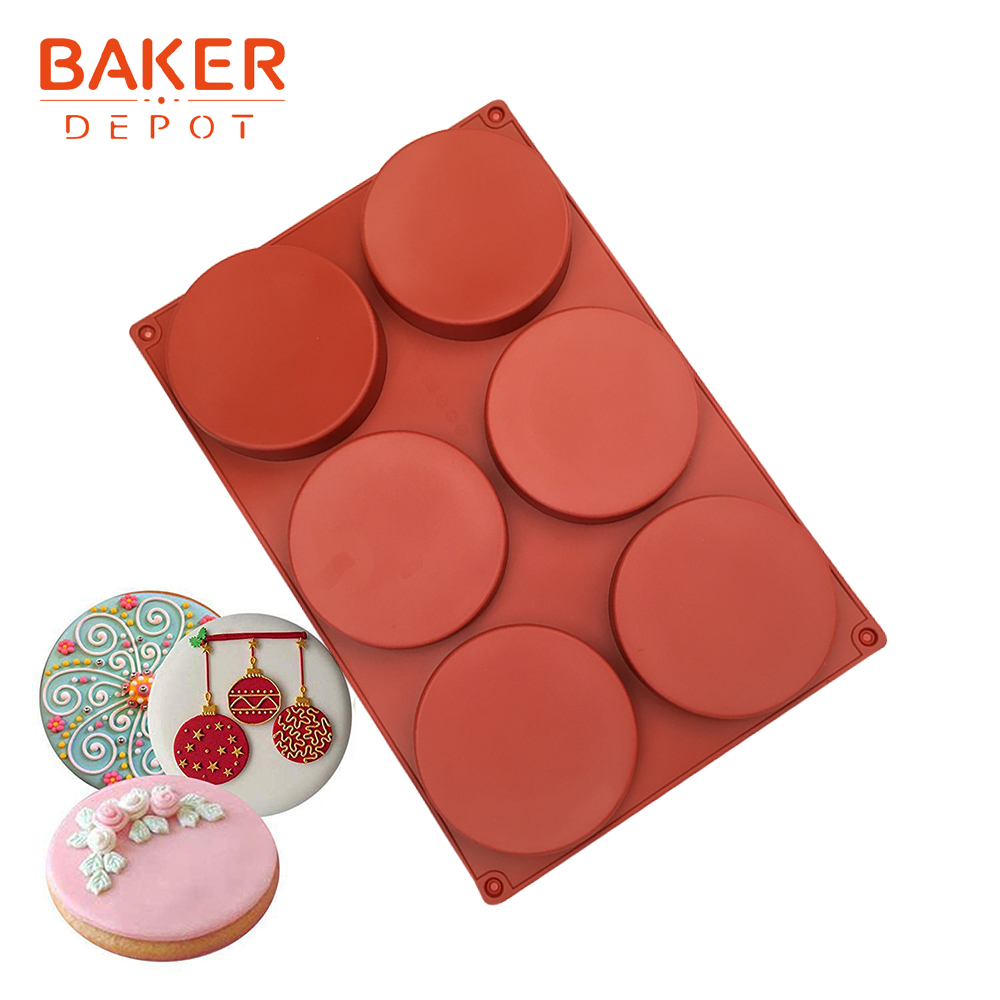 <font><b>BAKER</b></font> <font><b>DEPOT</b></font> silicone mold for pastry baking silicone cake form round shape bread jelly pudding mould ice soap cake decorate tool image