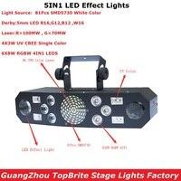 Новый 5IN1 лазерной вспышки мерцающий бабочка Дерби огни Привет Качество 6X8 Вт RGBW 4IN1 DMX дискотека вечерние Home Entertainment свет этапа