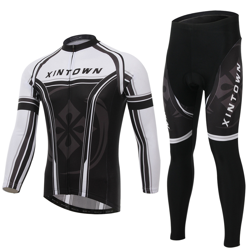XINTOWN Winter cycling jersey pants set Ropa Ciclismo MTB thermal fleece windproof cycling wear bike clothing suit setsXINTOWN Winter cycling jersey pants set Ropa Ciclismo MTB thermal fleece windproof cycling wear bike clothing suit sets