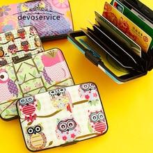 Novelty Kawaii Owl Card Holders For Girls Boys Credit Bank Card Case Wallet Business Card Storage Box Desk Accessories Organizer
