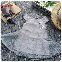 Summer New Baby Children Family Name Wind Jacquard Collar Dress 17 New S 175003