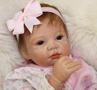 22 Handmade Lifelike Reborn Dolls Silicone Vinyl Baby Boy Doll Toys+ Gift Pacifier