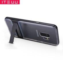 Чехол-подставка ITEUU S9/S9PLUS из поликарбоната ТПУ для Samsung Galaxy S9 S9 Plus, чехлы из мягкого силикона, прозрачный чехол-подставка