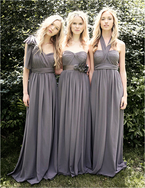 Custom Size 2017 New Variety To Wear Convertible Dress Long Bridesmaid Dresses Multicolor Wedding
