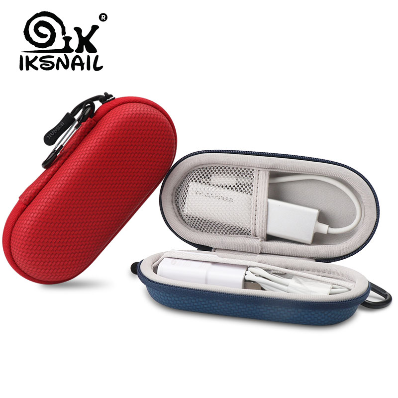 IKSNAIL For AirPods Accessories Bag EVA Hard Protective Cover Pouch Case & Anti Lost Strap & Ear Cover Hooks For Earphone Case