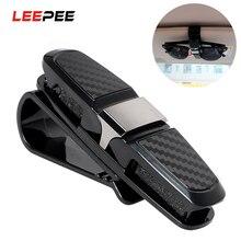 Sunglasses Holder Clip Cases Fastener Card-Clamp Ticket Car-Sun-Visor ABS LEEPEE Universal