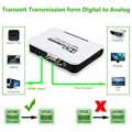 1080P HDMI to VGA adapter Digital to Analog Video Audio Converter Cable for Xbox 360 PS3 PS4 PC Laptop TV Box Projector