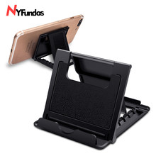 NYFundas foldable adjustable cell phone holder stand tablet desktop for iphone XS MAX XR X 10 8 7 6 6S Plus 5 5s ipad mini pro(China)