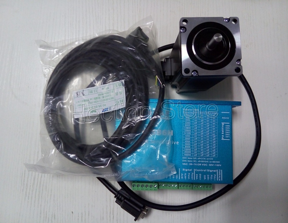 New 300W Leadshine Easy Servo Drive HBS86H +3NM Easy servo motor 60HBM30-1000 a set NEMA 24 Output 3NM speed 3000RPM CNC part new for dell inspiron 1464 1564 1764 n4010 fan