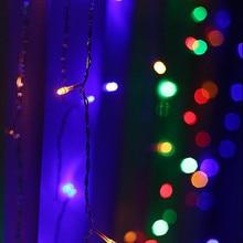 300 светодиодные лампы для занавесок, вечерние, свадебные, феи, крытый, открытый, Рождественский сад, для свадьбы, дома, сада, вечерние, Декор