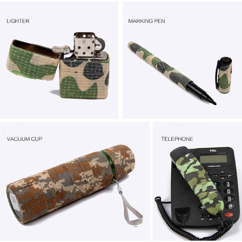 6 Rolls Självhäftande Non-woven 5cmx4.5m Camouflage Wrap Rifle Jakt - Jakt - Foto 4