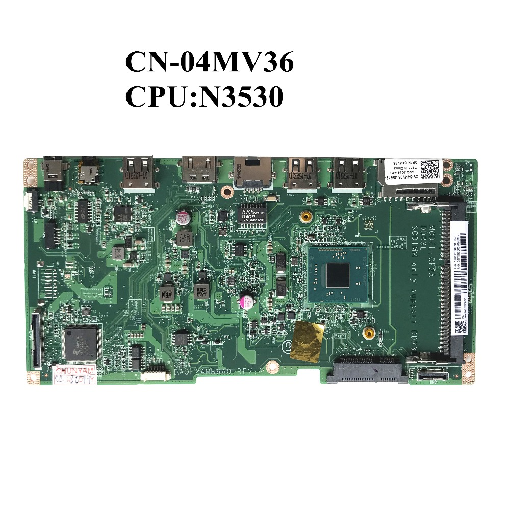 Excellent For Dell Inspiron 3043 Laptop Motherboard With N3530 CN 04MV36 04MV36 4MV36 DAQF2AMB6A0 REV A