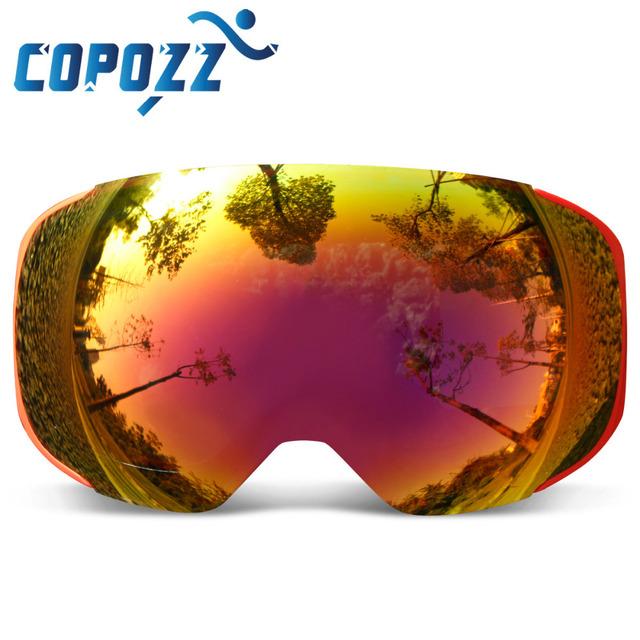 Ski Snowboard Goggles Replaceable Magnetic Lenses UV400 Anti-Fog