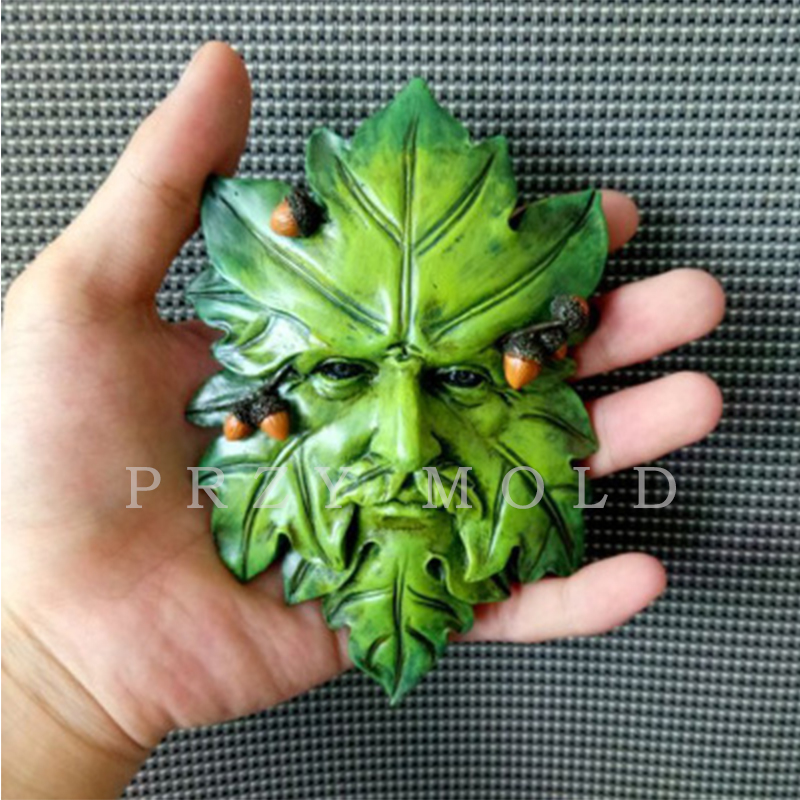PRZY Silicone Mold Handmade Molds for Home Decoractions Aroma Stone Molds with Leaves with Nut Classic Exclusive Leaf Man Moulds