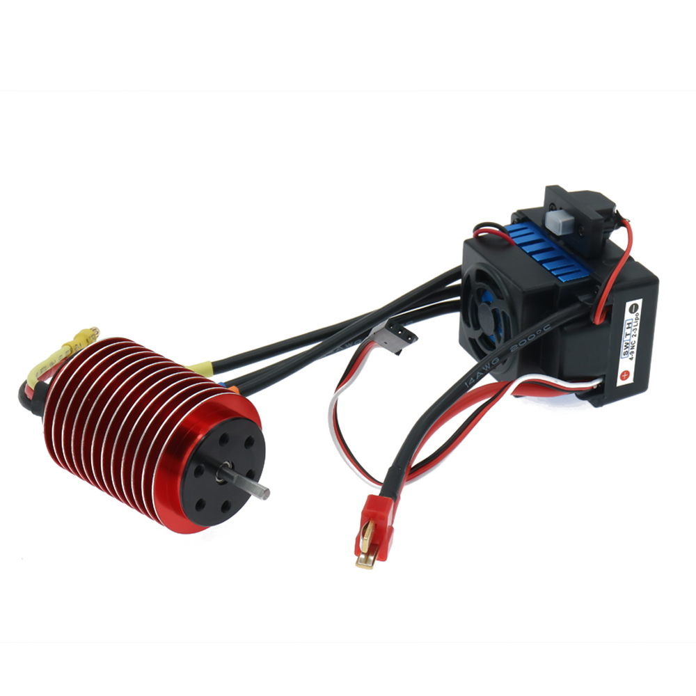 1Set 45A Waterproof Esc Electronic Speed Controller +3650 Kv4000/3300 Brushless Motor Inrunner Combo For Rc Model Car Boat Hsp 320a waterproof rc boat esc eletric speed controller for rc crawler car boat regulator spare parts 7 2 16v with fan two motors