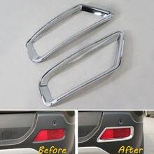 Авто сзади хвост противотуманные свет лампы крышка декоративная рамка украшения ABS 2 шт. для peugeot 3008 2013-2015 стайлинга автомобилей