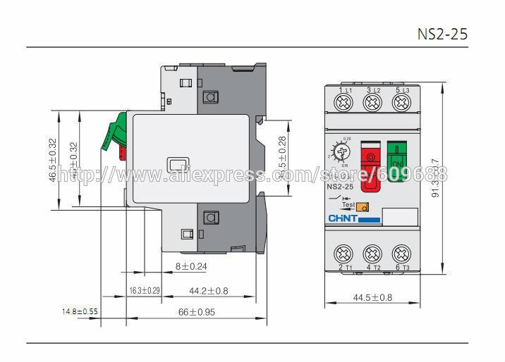 ヾ ノchint Motor Starter Ns2 25 1 6 2 5a Motor Protector Motor Circuit Breaker Motor Switch A112