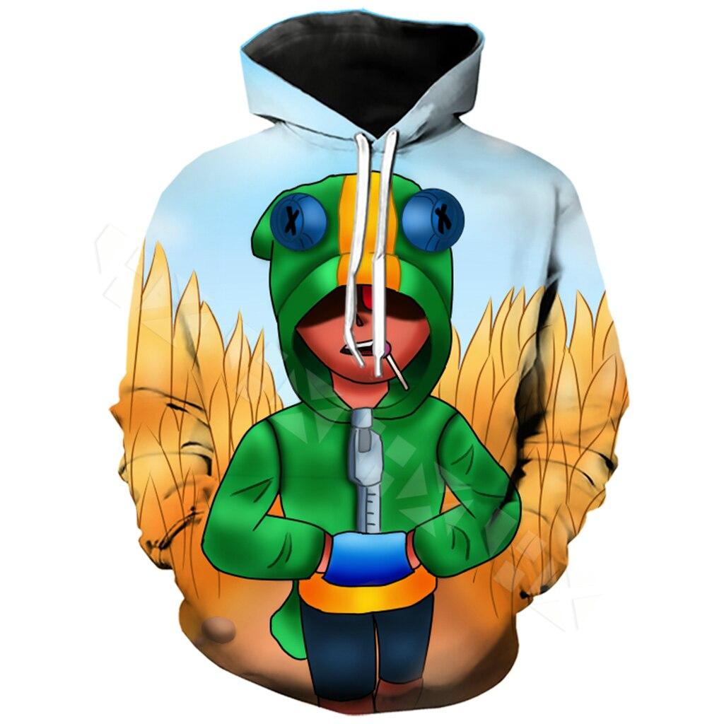 Brawl Stars Leon   T     Shirt   Men Clothing Hoodies 3D Print Unisex Kid Games   T     Shirt   Sweatshirt Casual Streetwear Tops T40