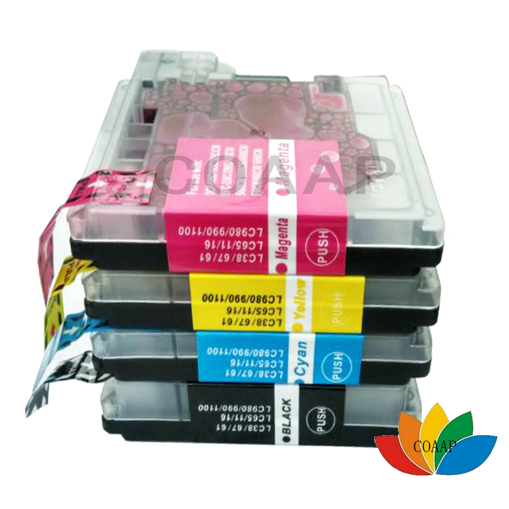 4 Ink Cartridge LC980 LC1100 LC61 Replace for DCP-195C DCP-197C DCP-365CN DCP-373CW DCP-535CN DCP-585C DCP-585CW printer4 Ink Cartridge LC980 LC1100 LC61 Replace for DCP-195C DCP-197C DCP-365CN DCP-373CW DCP-535CN DCP-585C DCP-585CW printer