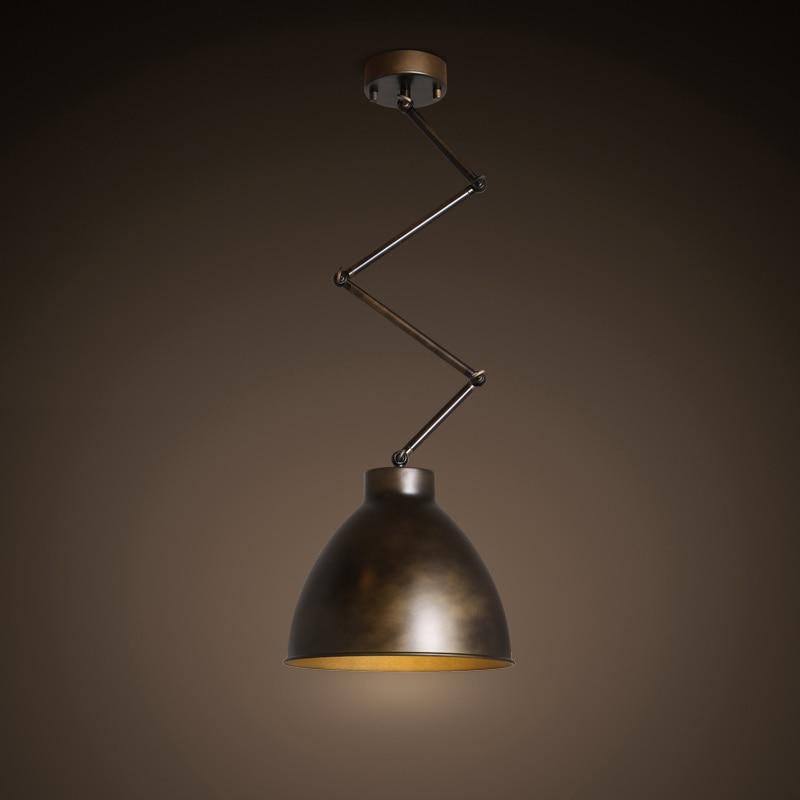 Retractable Ceiling Light Vintage Lamp Lamparas Adjustable