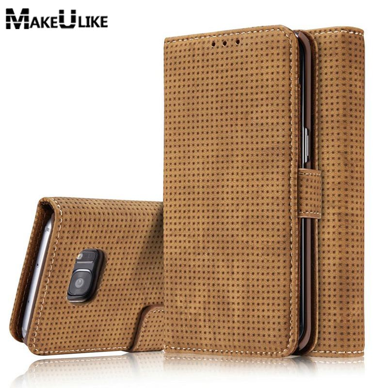 New Style Wallet Cases For Samsung Galaxy S7 Edge Flip Cover Retro PU Leather Phone Bag