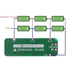 Image 5 - 3S 20A Li Ion batería de litio 18650 cargador Pcb Placa de protección BMS para motor de taladro 12,6 V Módulo de célula Lipo