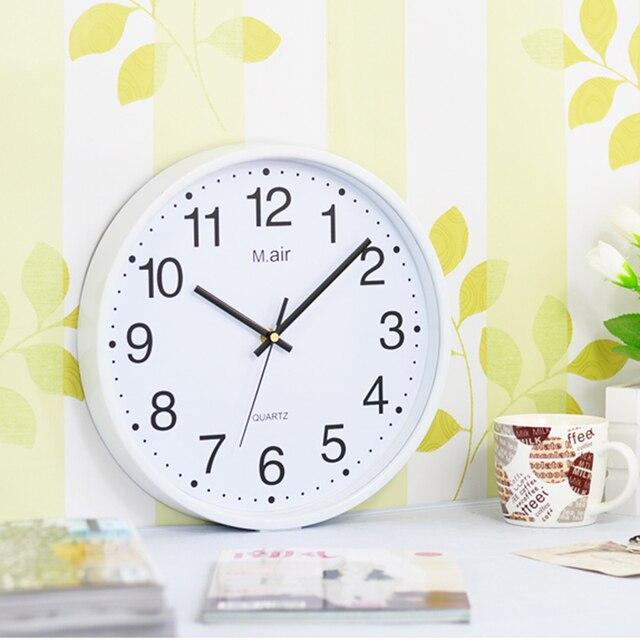 f3757e864d94 10 12 pulgadas breve creativo aguja dormitorio Reloj de pared digital de moda  reloj de