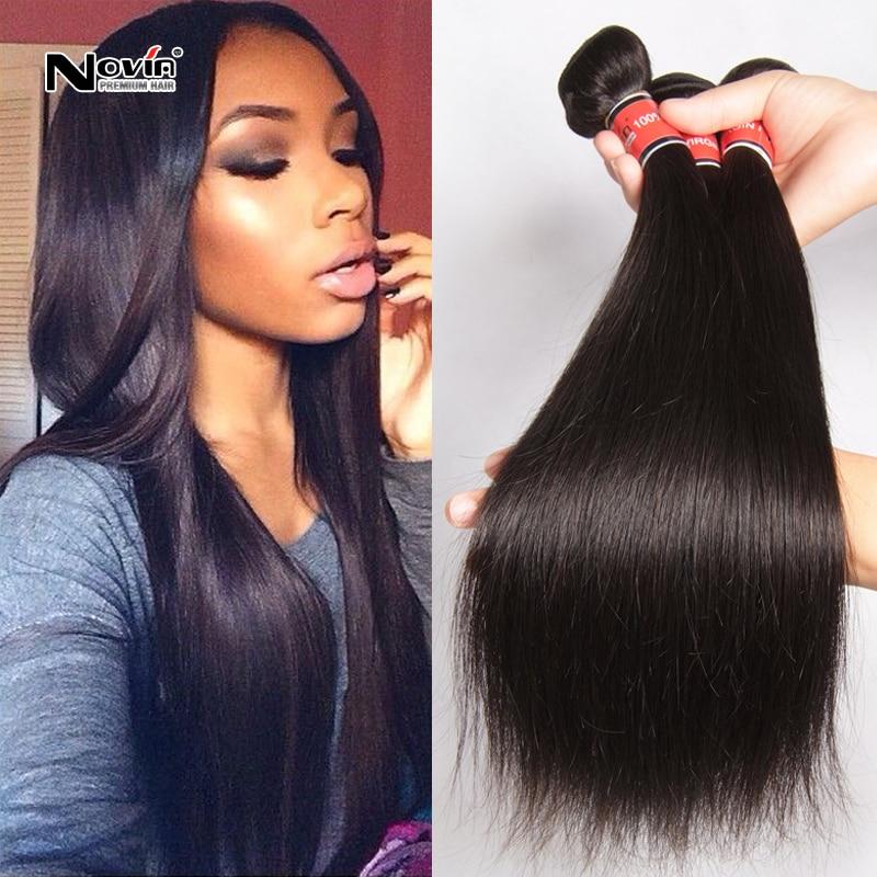7a Unprocessed Brazilian Virgin Hair Straight Cheap 3 Bundles