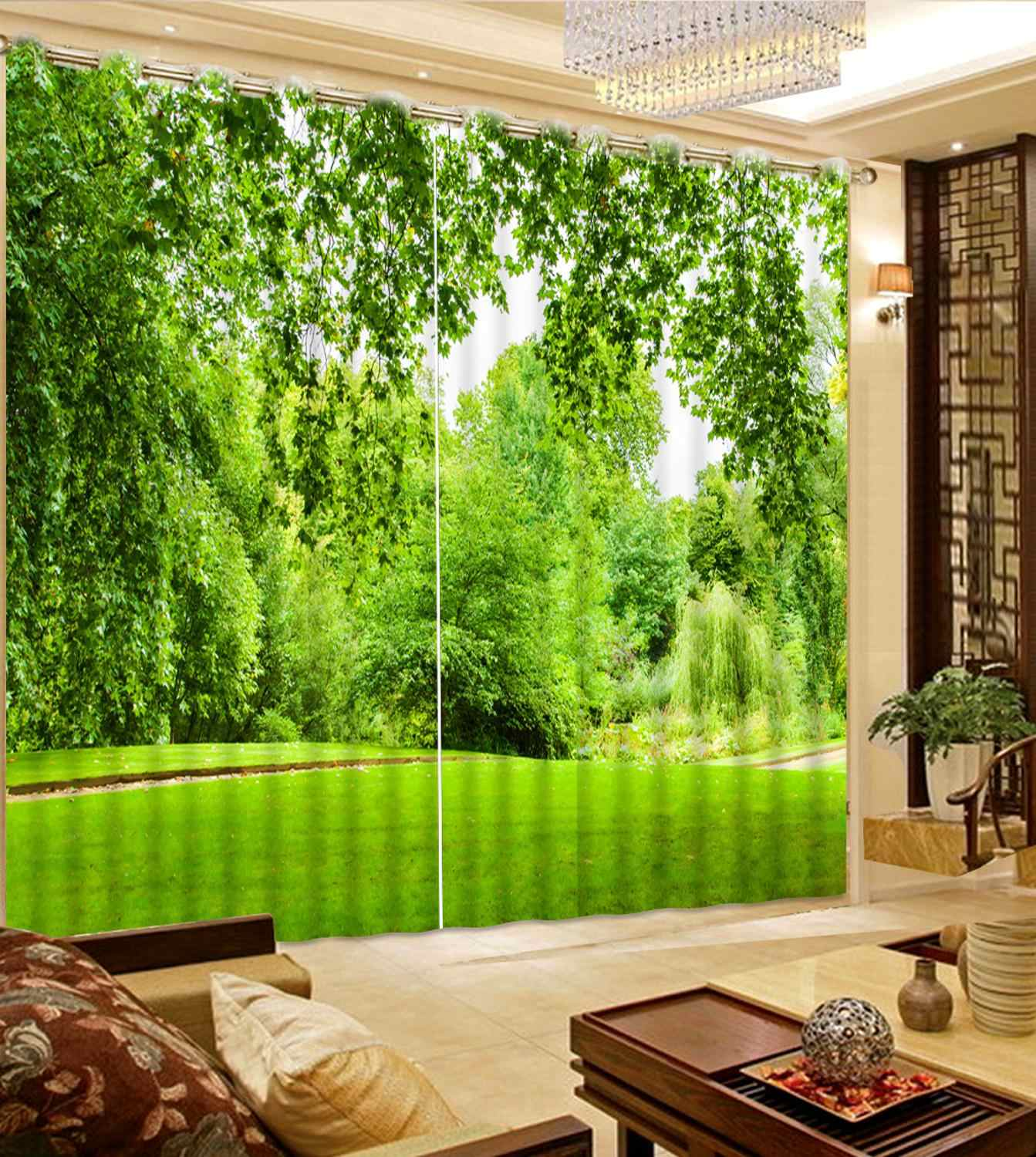 modern 3d blackout window curtains for bedroom beautiful scenery girls curtains for bedroom