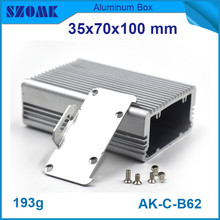 4pcs/lot aluminum extrusion enclosure szomk electronic switch case for pcb broad 35*70*100mm