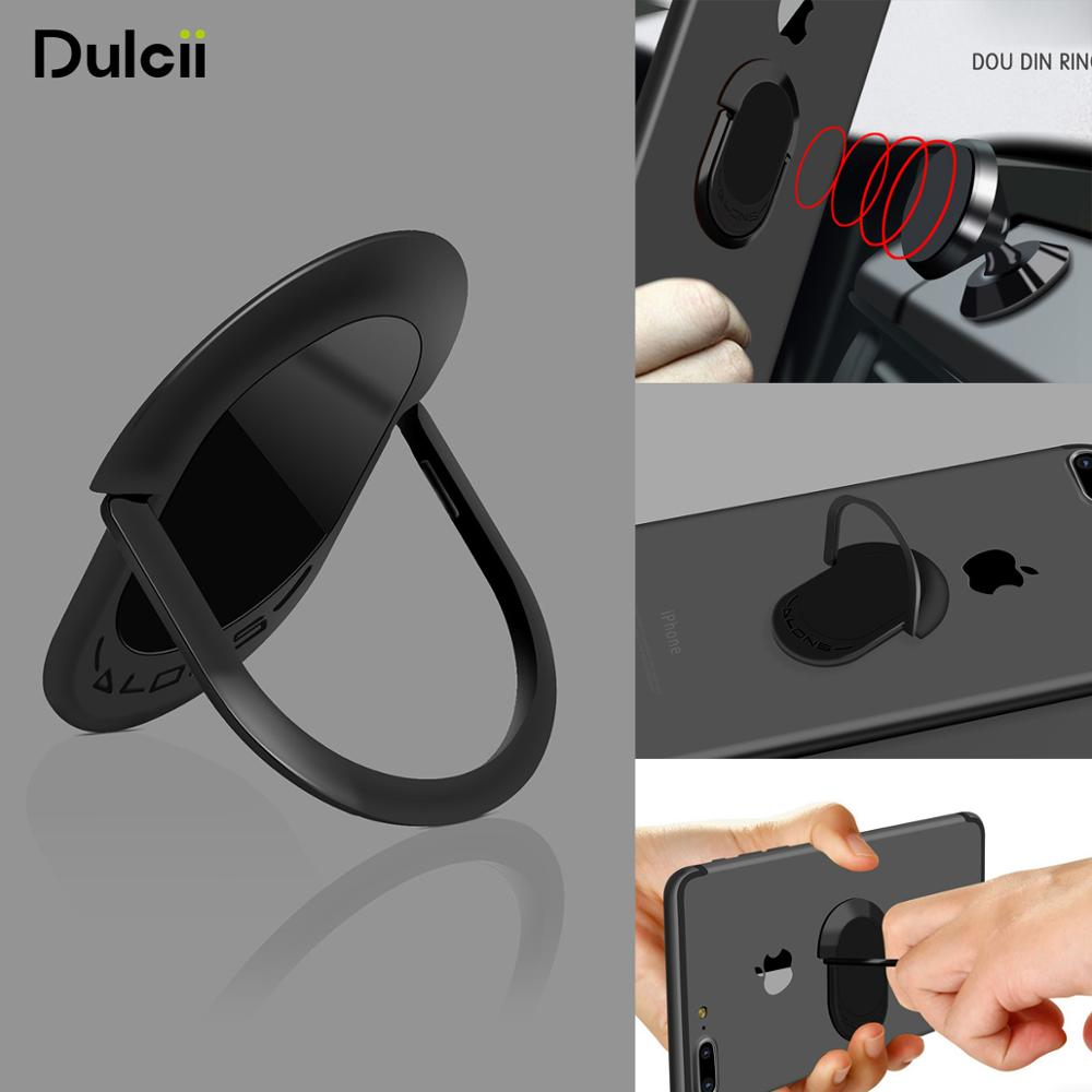 Dulcii Finger Ring Holder For iPhone Samsung Phone Holder Stand 360 Degree Ultra-thin Magnetic Car Phone Holder Stand