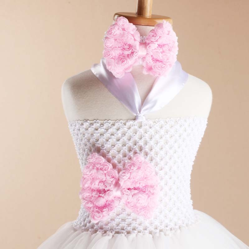 Toddler Girls Fancy Princess Tutu Dress Holiday Flower Double Layers Fluffy Baby Dress with Headband Photo Props TS044 14