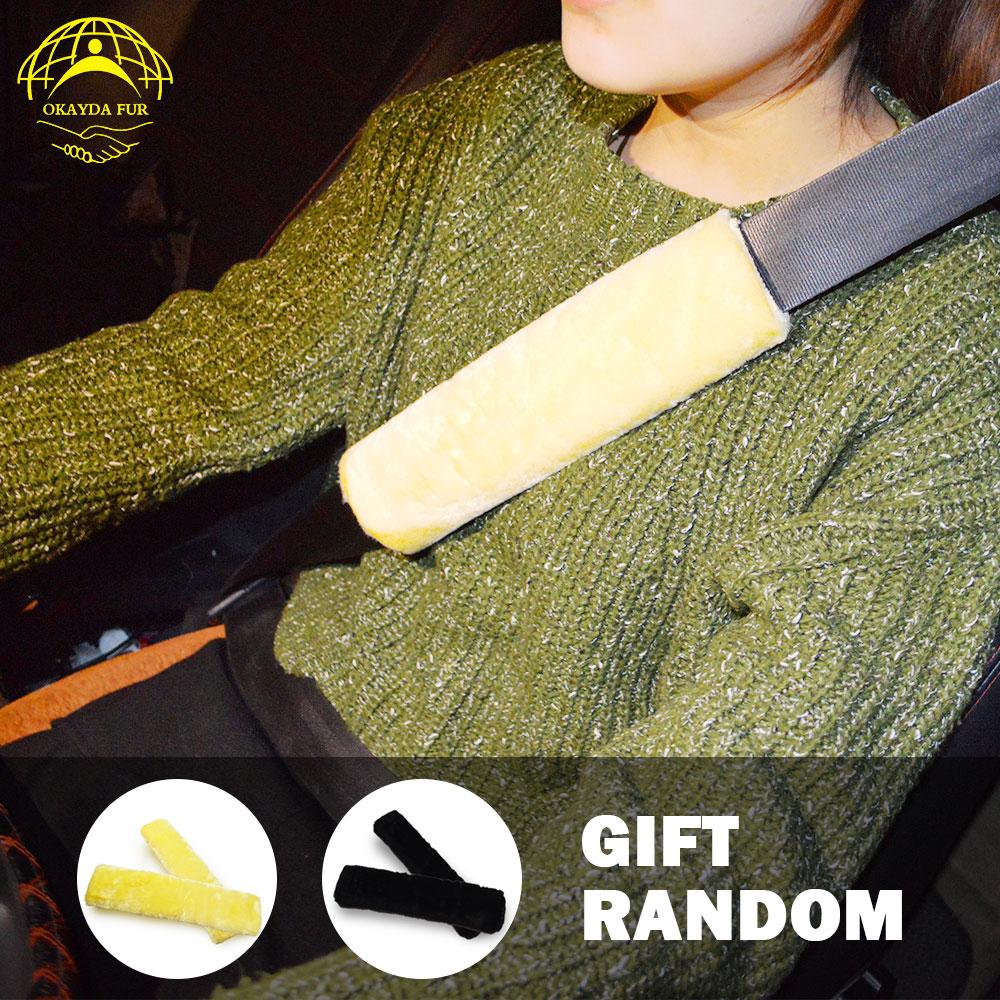 OKAYDA autoistme kate Täielik karusnahk tõeline lühike lambanahk - Auto salongi tarvikud - Foto 6
