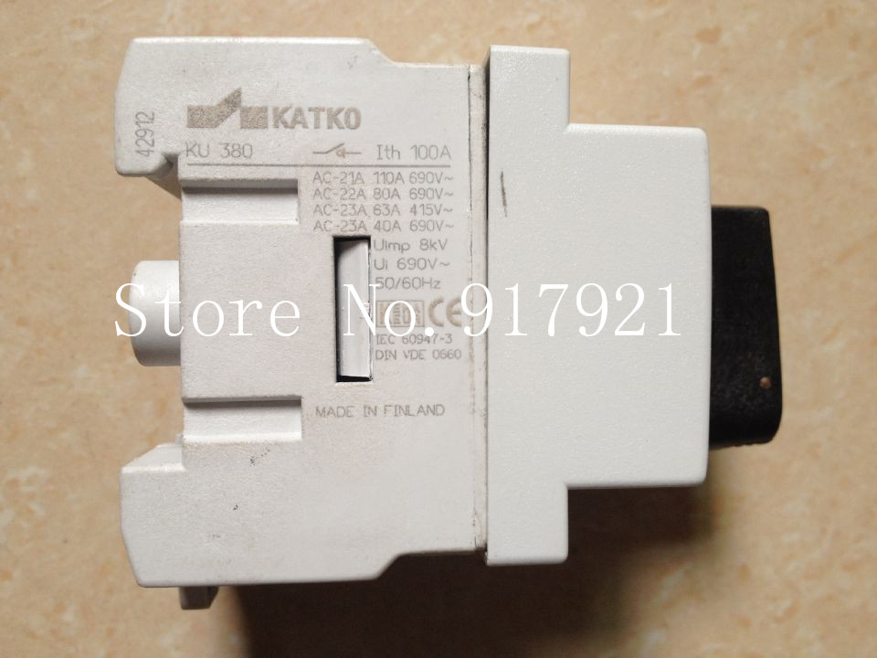 [ZOB] KATKO KU380 100A 3P100A import / switch load switch / switch / safety switch --2PCS/LOT [zob] reset 704 123 018 704 121 018 import switzerland eao key switch lock hole 30 5 2pcs lot