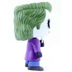 Image 4 - مجسمات شخصيات متحركة من Funko pop 12 سنتيمتر لشخصية الجوكر وباتمان وفارس الظلام الشرير لعبة نماذج PVC للأطفال