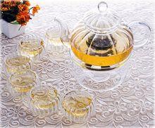 1x Pumpkin Shaped Glass Tea Set C 1 20fl oz600ml Heat Resisting