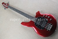 Real photos Hot Selling High Quality Active Pickup Musicman Bongo red 4 String Music Man Electric Bass Guitar,