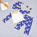 Conjuntos de Roupas de bebê meninos 2016 Outono nova Roupa menino Dos Desenhos Animados Do Bebê Recém-nascido chapéu + camisa + calças 3 Pcs para a Roupa do bebê
