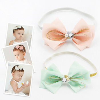 30pcs/lot Baby Girl high-grade Mesh Bow Flower With Glitter Headband