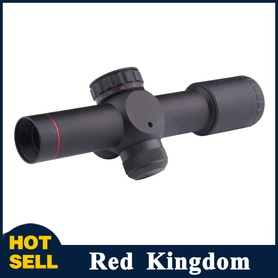 все цены на 4.5x20E Compact Hunting Rifle Scope Red Illuminated Glass Etched Reticle Riflescope With Flip-open Lens Caps and Rings онлайн