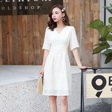 2019 Korean Chic White Vintage Beach Midi Sundress Summer Plus Size Solid Sexy Boho Dresses Elegant Women Party Bodycon Vestidos
