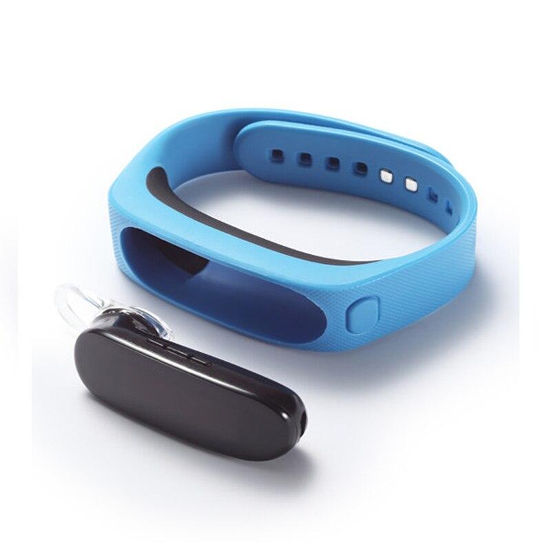 imágenes para B1 Elegante pulsera de la pulsera smartband Desmontable Bluetooth Banda de Auriculares a prueba de agua Monitor de Sueño para IOS Android