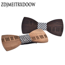 2018 Ties for Men Fashion Tuxedo Classic  Piano Keys Butterfly Wedding Party Bowtie wooden Bow Tie