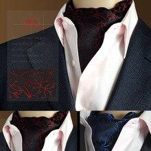 2016 new Fashion men necktie Polka Dot Silk Ascot Cravat, Casual Jacquard Ties Woven Party lot