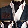 2016 nova Moda Polka Dot Seda Lenço Gravata gravata dos homens, casuais Jacquard Cachecóis Cachecol Laços Tecidos muito Partido