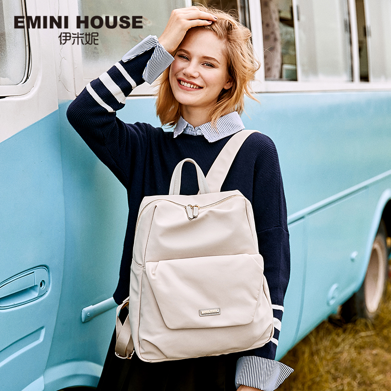 EMINI HOUSE Nylon Laptop Backpack Women School Bag Fashion Travel Backpack Zipper Shoulder Bags Roomy Backpacks For Teenage Girl 2018 nylon fashion backpacks women young ladies backpack girl student school bag for laptop travel bag black mochilas hot sale