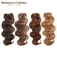 Rebecca Brazilian Natural Body Wave Hair 1 Bundle Colored #P1B/30 #P4/27 #P4/30 #P6/27 Remy Human Hair Extensions 10 22 Inch