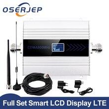 OSERJEP LCD 디스플레이 2G 3G 4G 모바일 신호 부스터 850mhz GSM 리피터 UMTS 850 셀룰러 신호 부스터 앰프 앰프 키트